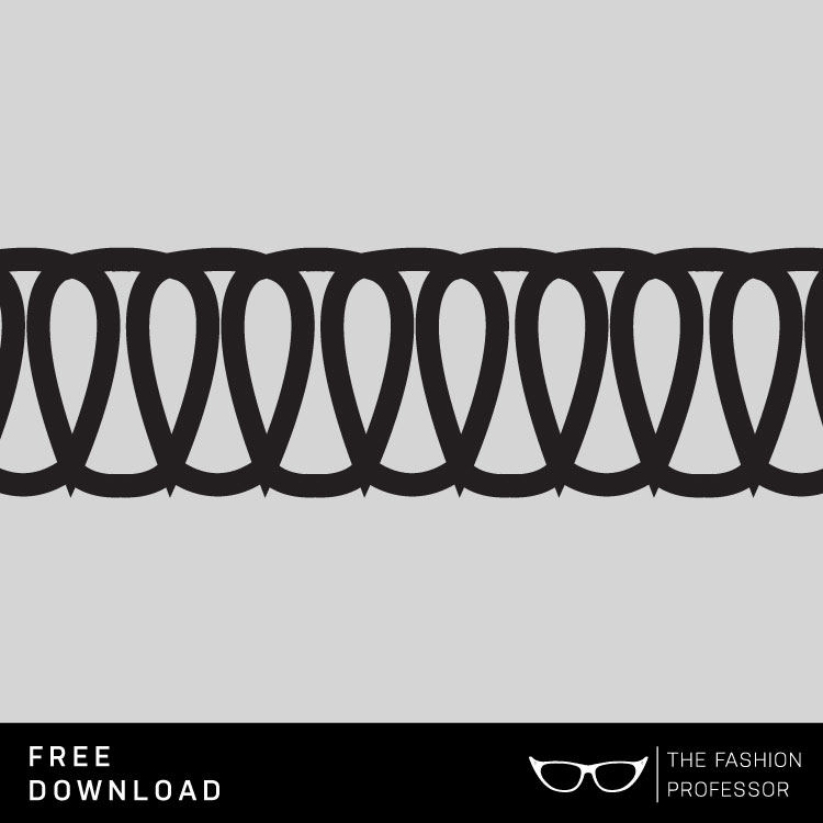 Free Vector Download: Coverstitch Brush | The Fashion Professor