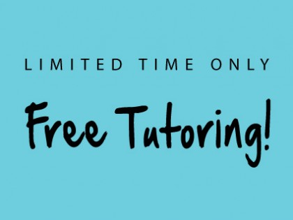 Limited Time Offer: Free Online Tutoring