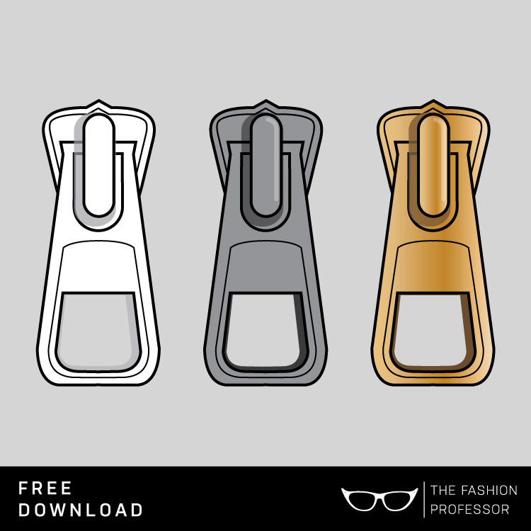 Free Vector Download: Zipper Pull | The Fashion Professor